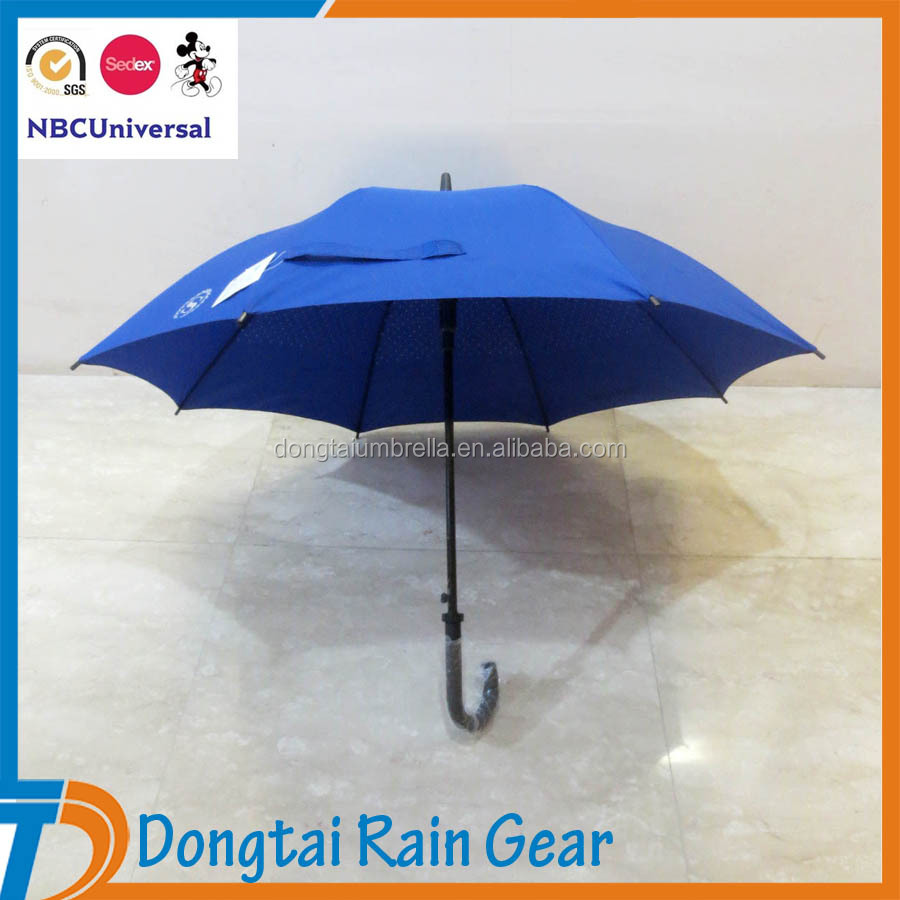 Blue Hotel Umbrella, 23 Inch High quality umbrella with Fiberglass