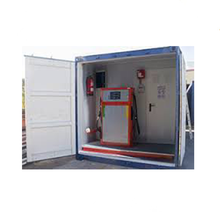 Portable skid mounted petrol fuel mobile container filling station exported to South Africa