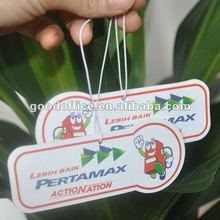 Paper material Room air freshener with sweet flavour for promotion
