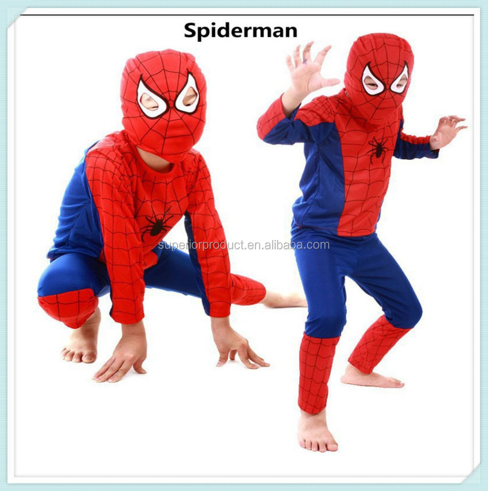 Spider-man Red black spiderman costume set carnival costume for kids Halloween gift children party anime cosplay