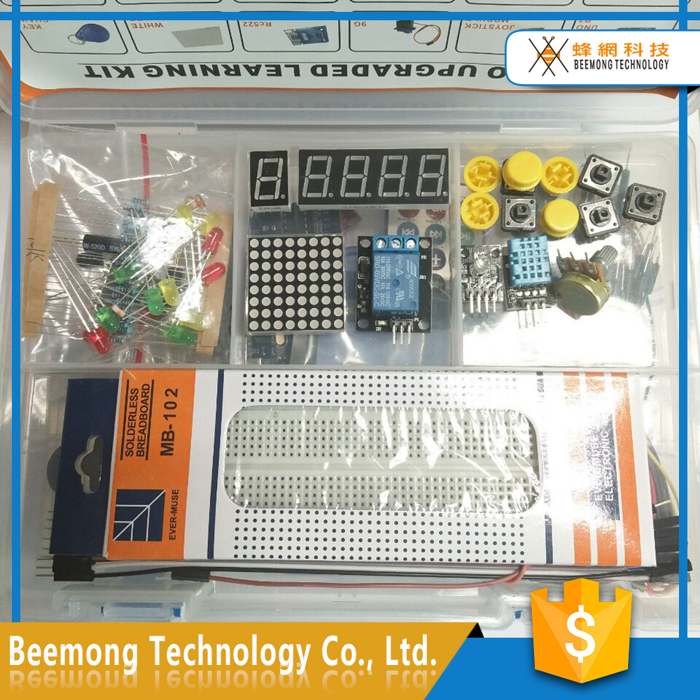 high quality Arduinos Starter Kit UNO R3 with 1602 LCD RFID Learning Kit