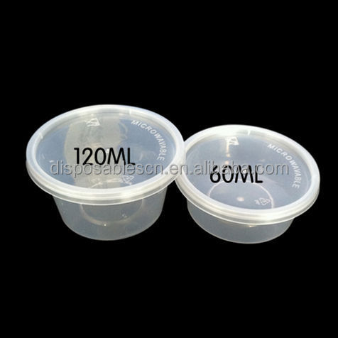 PP plastic small hard portion/sauce cups for tasting and flat lid