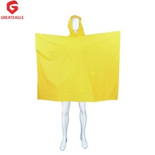 High quality adult custom men's plastic rain poncho with sleeves RC014