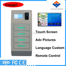Shopping mall electronic deposit locker with function to charge cell phone APC-04A-4