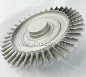 high precision nickel base alloy lost wax castings turbine wheel/disc used for marine/locomotive/aircraft turbocharger parts
