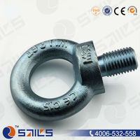 Drop forged galvanized small eye bolt