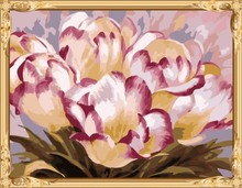 GX7261 2015 new flower picture canvas oil paint by numbers kit for beginners