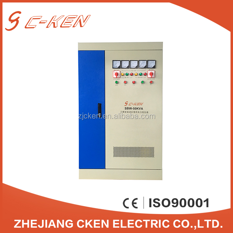 Cken 2016 New Product Customization SBW 50KVA 80KVA Pointer Display Big Power AC Voltage Stabilizers