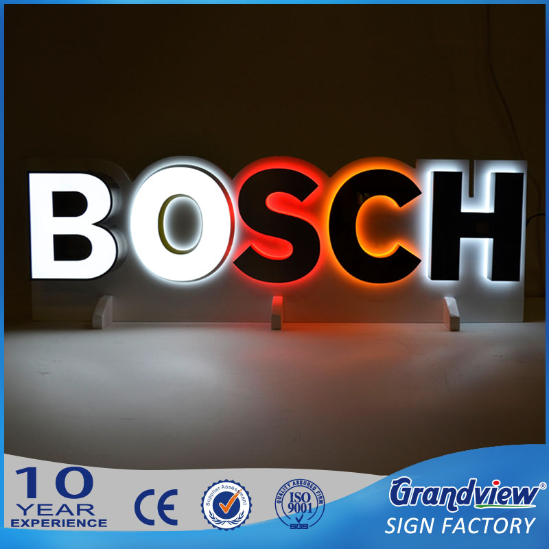 customized small business backlit signage metal Illuminated logo acrylic channel letter