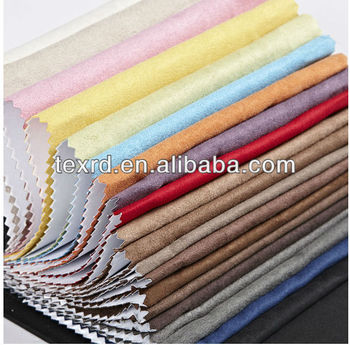 2014 Hot Sale High Quality Shoe Fabric Material Polyester Suede Fabric
