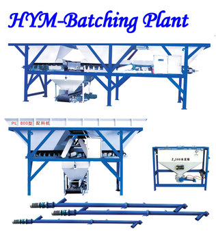 Two cabins concrete batching plant of PL800 concrete batching plant price