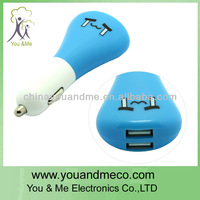 dual usb car charger 2.1amp usb retractable car cell charger for mobiles