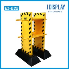 "shenzhen supplier ""H"" shaped unique design cardboard display stand/rack"