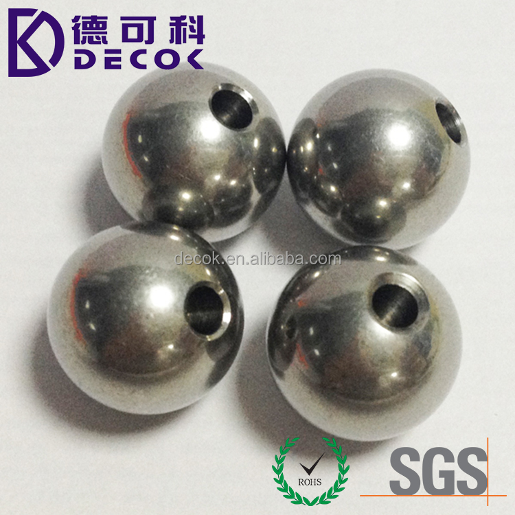 0.5mm to 75mm custom drilled steel balls 201 304 316 420 440 440c stainless steel balls with drilled half hole or through hole