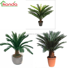 Landscaping artificial wholesale handmade sago cycas,cycad potted plant