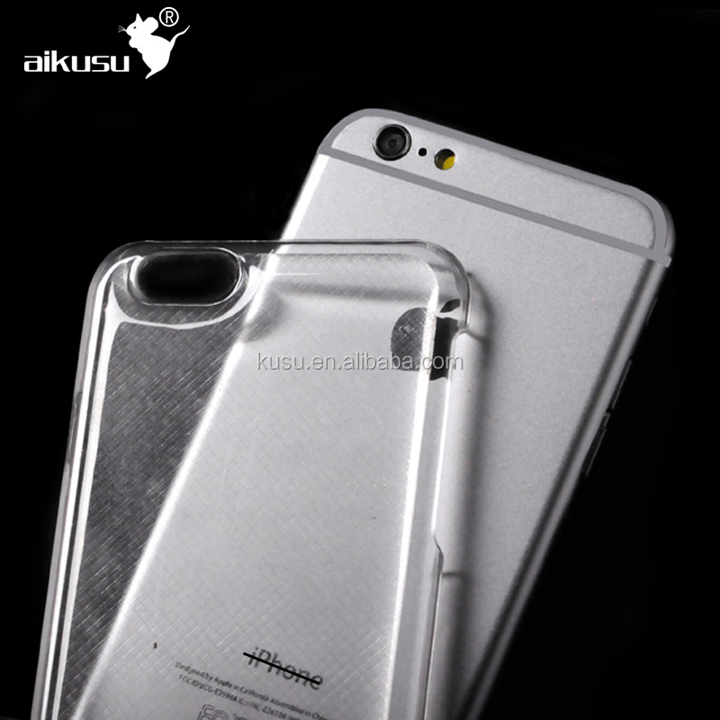 custom logo transparent hard pc mobile phone case cover for iphone 6, crystal shell case for iphone 6