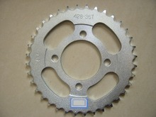 high performance cnc machining motorcycle bicycle parts customized chain sprocket DY100 36T/14T