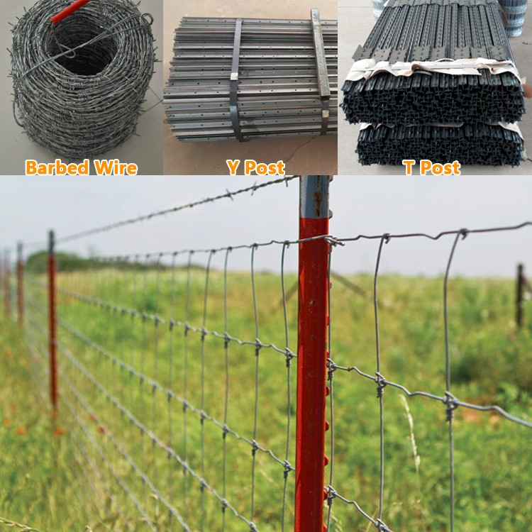 12.5 Gauge hot dip galvanized cattle field fence iso 9001 anping factory