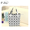 2015 Wholesale new fashion diamond sheet ladies PU tote bag