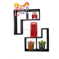 Black color cheap price modern decorative wall shelf for wall decor shelf