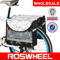 [14034] Wholesale goods in stock ROSWHEEL u-shape PE plate bicycle double pannier bag bicycle accessories