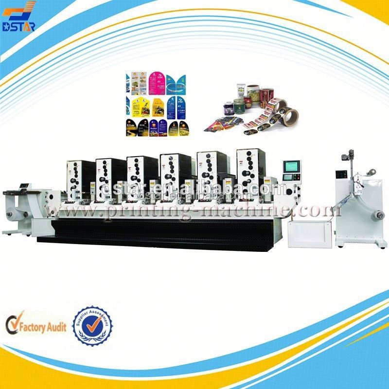 DX-J06-1 hot new producs for 2015 rotary letterpress adhesive sticker machine made in china manufacturer