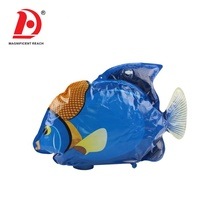 HUADA 2019 New Product B/O Lifelike Mini Plastic Electric Inflatable Fish Toy with Music