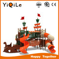 hot selling educational playground equipment funny kids pirate ship playground cheap kindergarten playground slides