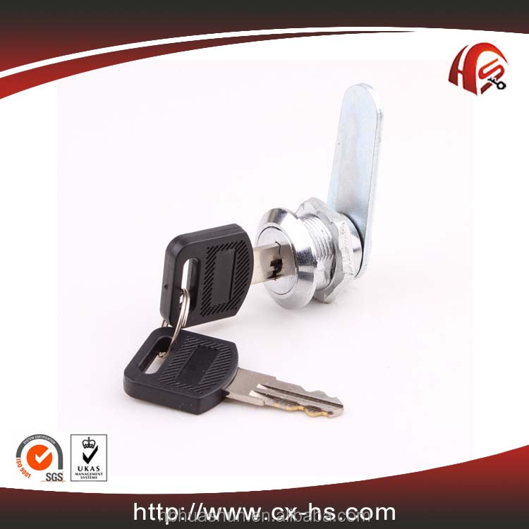 HS102 high quality zinc alloy die-cast cabinet hardware fitting blade cam lock for wooden or metal desk drawer lock