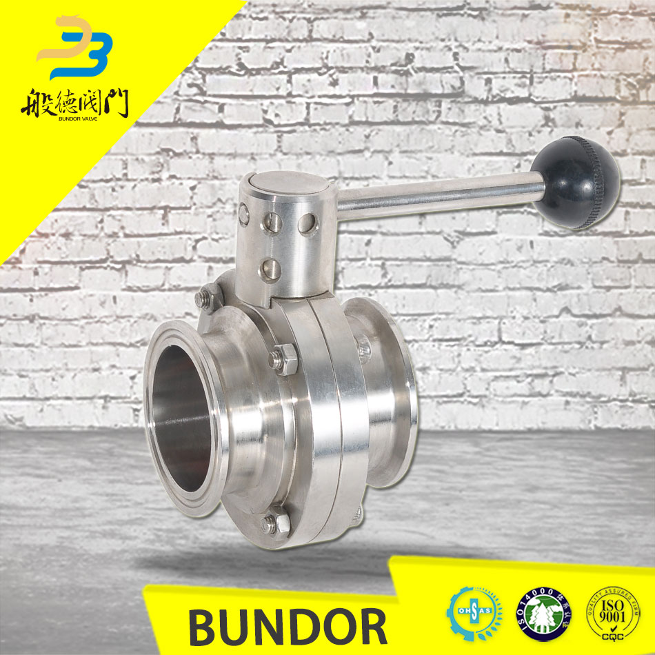API 6D CE/PED Certificate Stainless Steel Sanitary 1 Inch Butterfly Valve