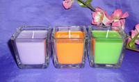 square glass jar candle