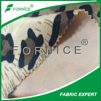 polyester leopard printed imitation animal fur fabric
