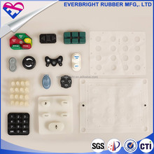 Good color stability silicone button rubber keypad with fpc