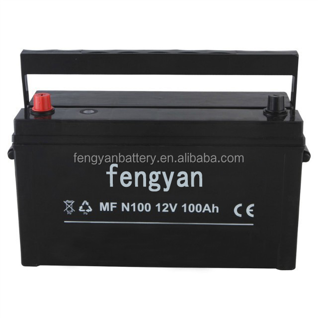 Automotive battery 12v100ah n100mf starting auto marine engine battery