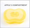 Latest New Design Chinese fast Food Packaging kids lunch boxes with 3 compartments apple shape Yellow