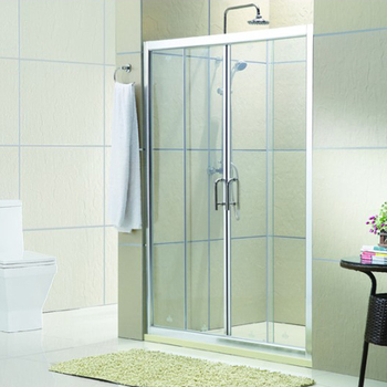 Wholesale aluminium alloy profile tempered glass sliding door shower screen KDS-PD04