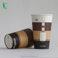 disposable hot paper cup single wall printed cup 12oz 400ml