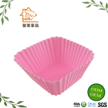 HIMI Hot Selling 100% Food Grade Silicone Baking Cup ,square muffin cake cups silicone bakeware