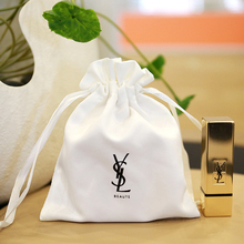 custom wholesale white fabric cotton canvas drawstring bag small