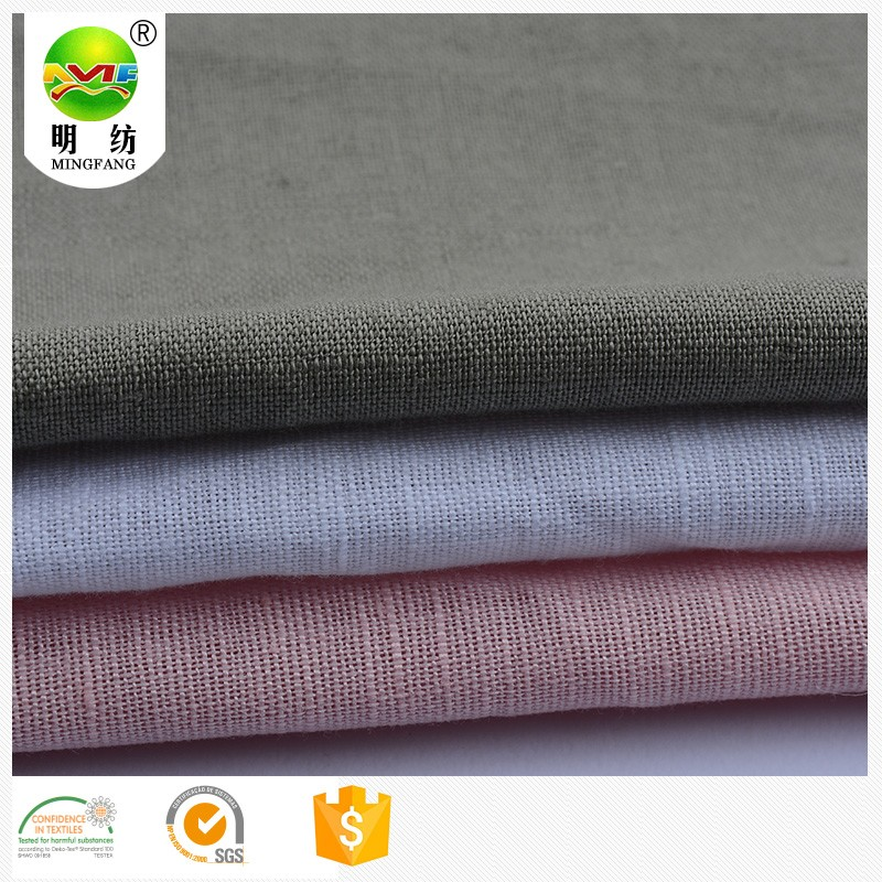 Wholesale solid color cotton linen fabric clothing