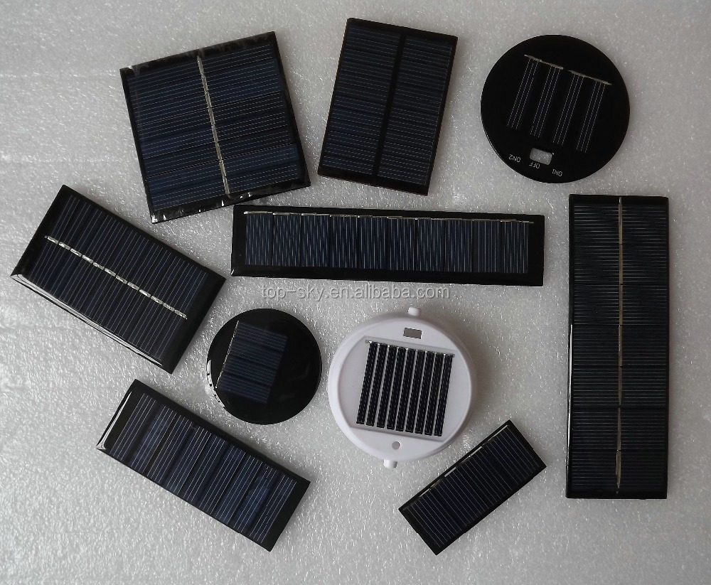 Custom made small size 5V 1W 3W 5W mini epoxy solar panels/ solar cells for led light PET solar panel for DIY Toys 0.5w solar