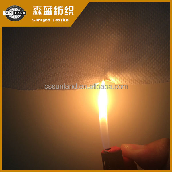flaming resistance finished 100% polyester knit fabric