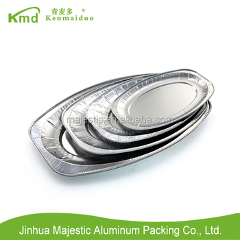 2017 Disposable supermarket aluminum foil plate/ alumimum foil platter
