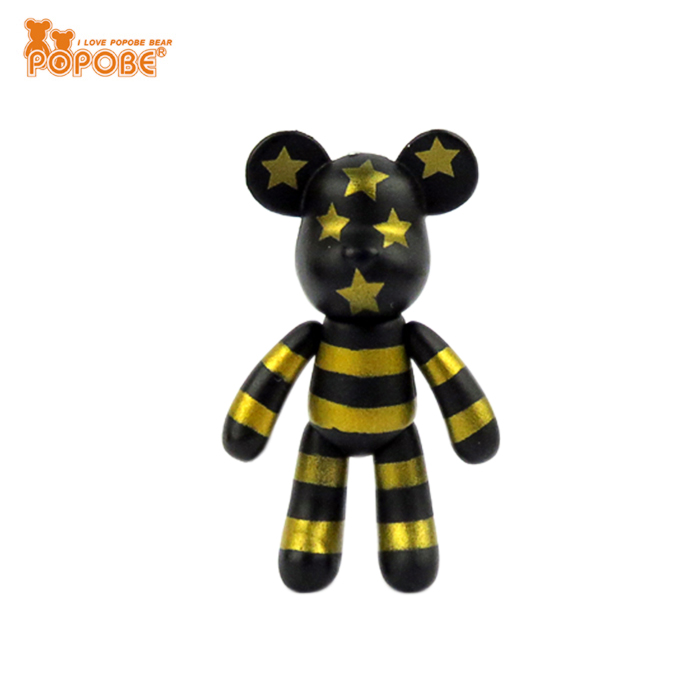 Top Selling PVC 2inch Bear Toys  Nice Design POPOBE Unique Bear Toys