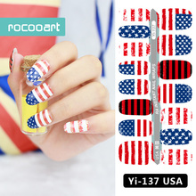 Yi-137/Latest 2017 Unique America nail Wraps Stickers, USA Flags Designs, Waterproof Nail Arts Polish Gel Foils Nail Patch