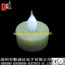 Battery operated flickering flame candle led tea light candle with timer