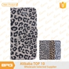 BRG stylish leopard print folio cover wallet leather case for iphone 6 plus with card slots