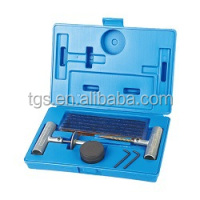 27 pcs tire repair kit with zinc -alloy t handle tool