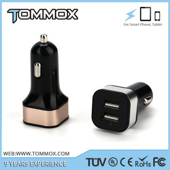 Factory Wholesale Car Battery Charger,High Efficiency Dual USB Car Charger