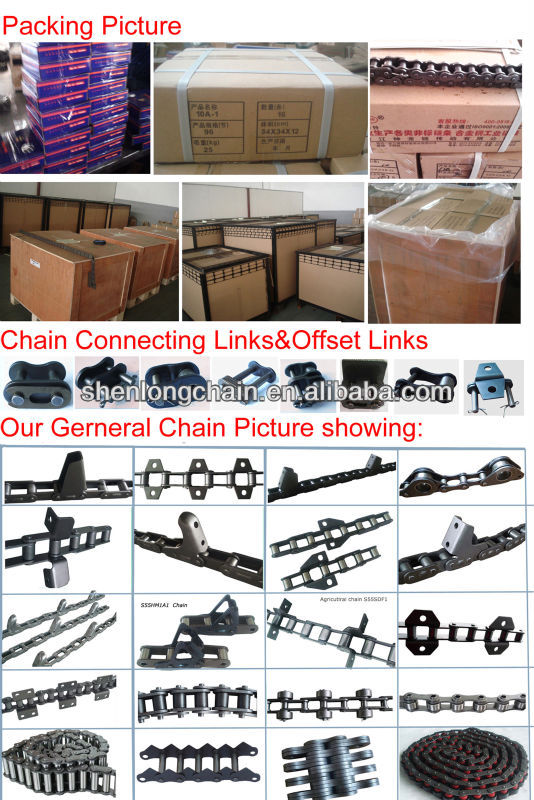 CA557 agricultural roller chain with SD attachments